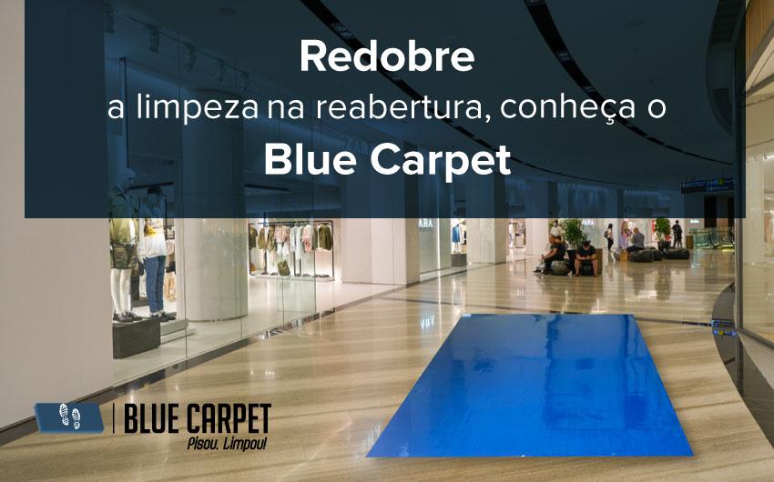 Que tal trazer mais limpeza e segurança para todos que circulam no Shopping? Conheça o Blue Carpet, o tapete adesivo com tecnologia de hospitais, eficiência higiênica e preço justo. A reabertura do Shopping pode ser muito mais segura com o Blue Carpet. Acesse www.cbcflex.com/bluecarpet e conheça mais sobre nosso tapete. Blue Carpet: pisou, limpou!