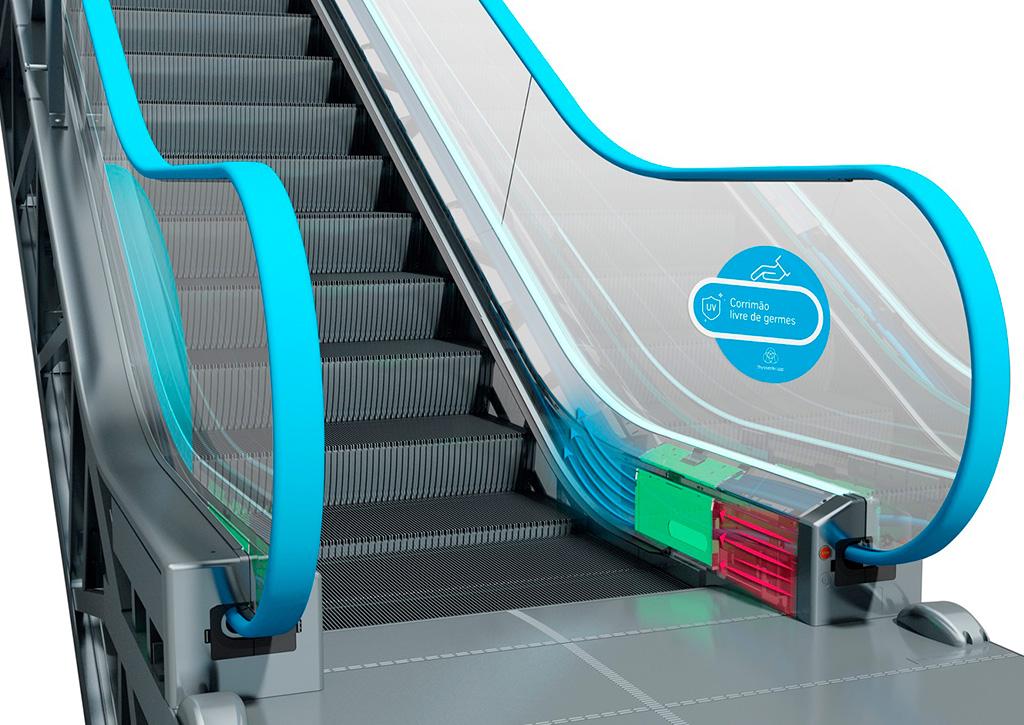 Soluções tecnológicas contra o Covid-19 Escada Rolante thyssenkrupp - Revista Shopping Centers