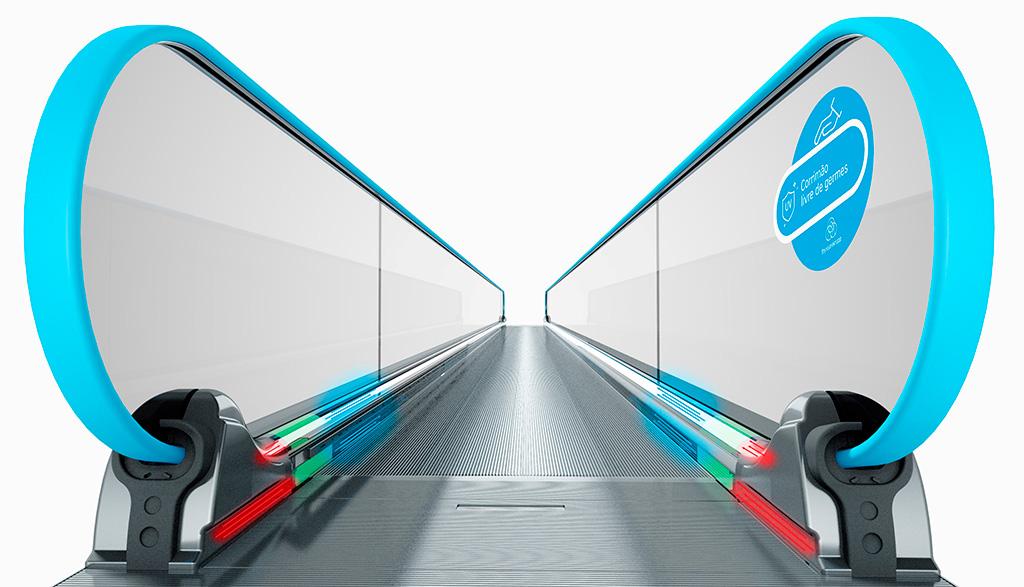 Escada Rolante com esterilizador thyssenkrupp - Revista Shopping Centers