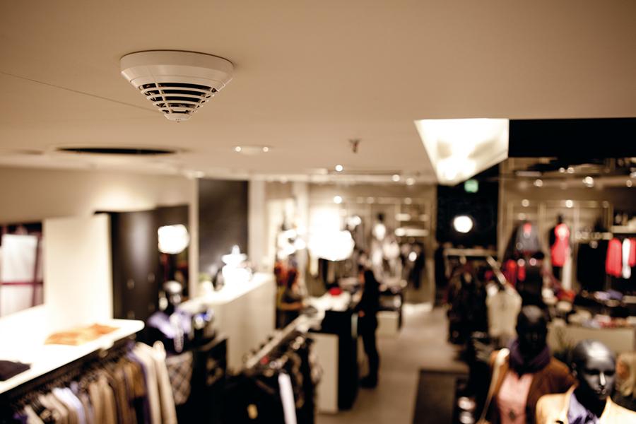 Detector de incêndio Soluções Bosch  - Revista Shopping Centers